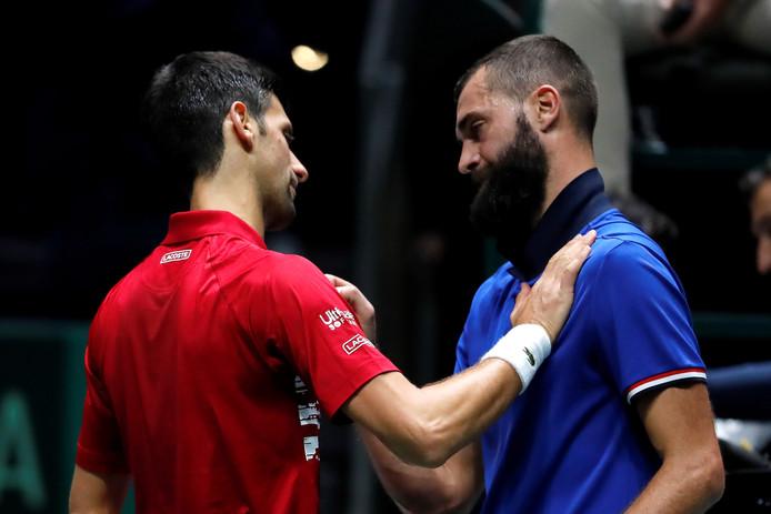 Djokovic en Benoit Paîre.