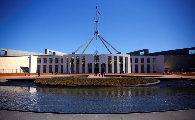 Het Australische parlementsgebouw in Canberra.