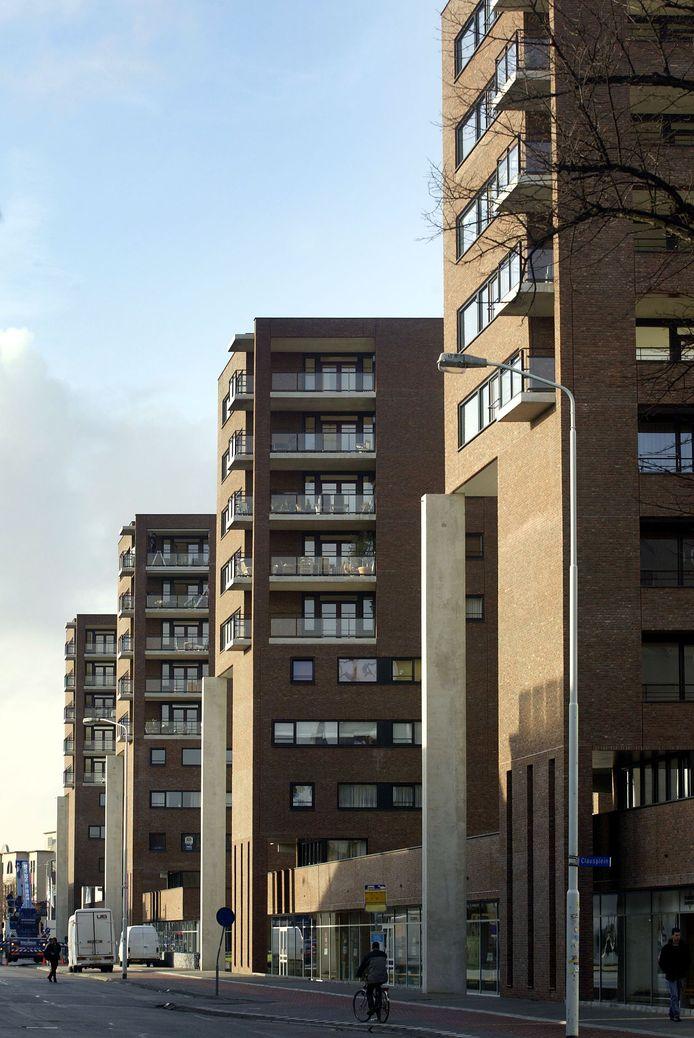 Eindhoven Wooncomplex Lichtstraat met appartementen aan Willemstraat.