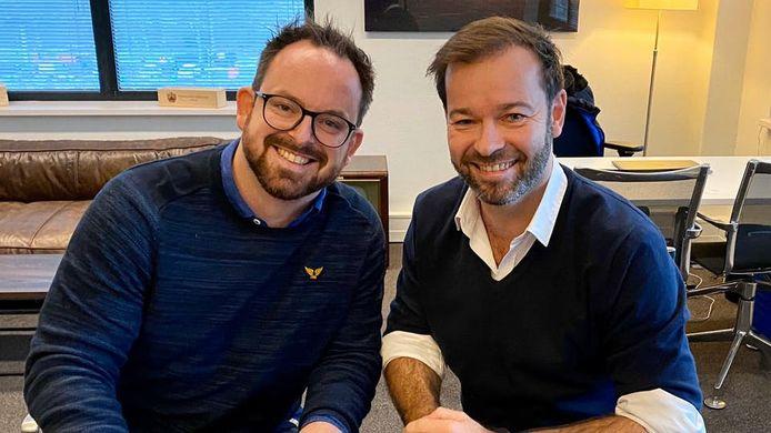 Thijs Zeeman en RTL-zenderbaas Peter van der Vorst.