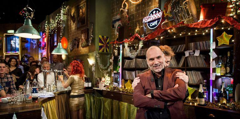 Leo Blokhuis in het Top 2000 café. Beeld anp