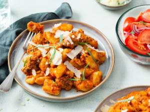 Wat Eten We Vandaag: Gnocchi in gepofte paprika-wortelsaus