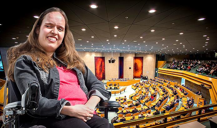 Noortje over loondispensatie bij PvdA congres in Amsterdam.