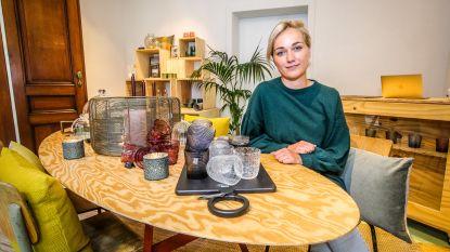 """Astrid (32) opent winkel voor één week: """"Klanten van  webshop kunnen spullen hier voelen"""""""