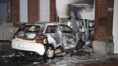 Gangsters rijden auto in gevel ijssalon en stichten brand