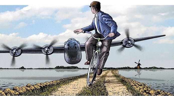 Piloot haynes baumgardner vliegt met Liberator bommenwerper laag over West-Brabant in 1944