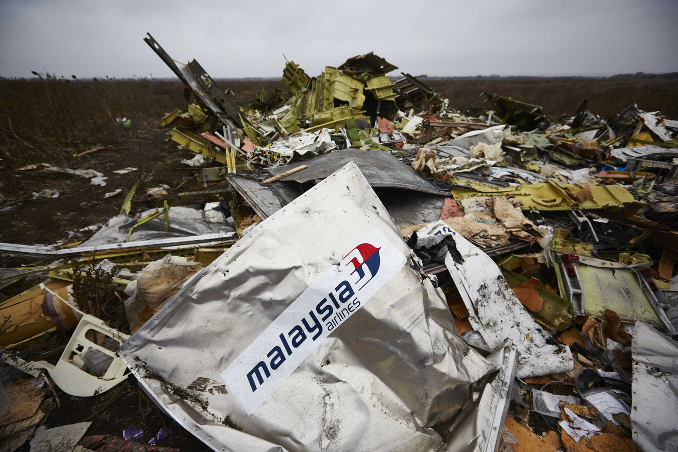 Wrakstukken van MH17 in Oekraïne in november 2014.