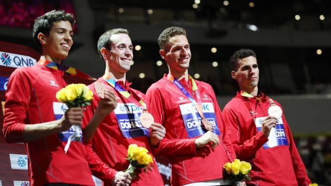 "Brons voor Belgian Tornados op 4 x 400 m in finale WK atletiek: ""Mooiste medaille ooit van onze ploeg"""