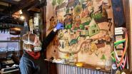 Muurschildering van vijftig jaar oud in café 't Vat krijgt nieuw leven: alle details dankzij restauratie weer mooi zichtbaar