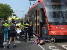 Bromfietsster gewond na botsing met tram