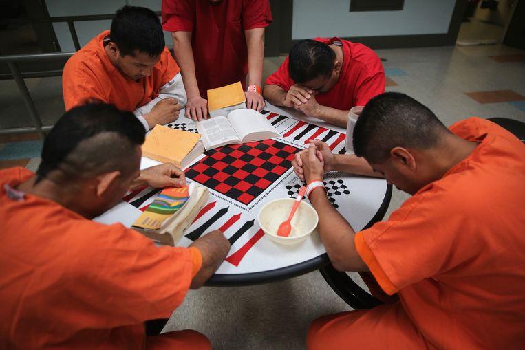 In de Adelanto-gevangenis verblijven met name illegale immigranten Beeld Getty Images