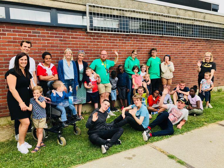 Vakantiespeelpleinwerking in school De Zonneroos.