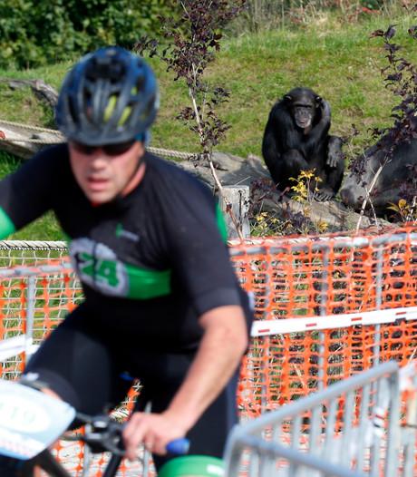 Spektakel op Landgoed Gulbergen in Nuenen tijdens mountainbikemarathon
