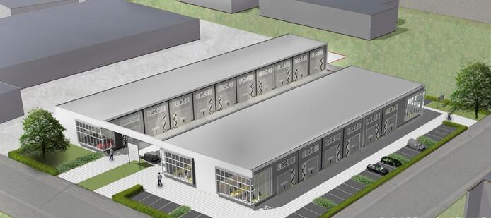 Het nieuwe bedrijfsverzamelgebouw dat aan de Fresialaan in het Huissense Agropark komt