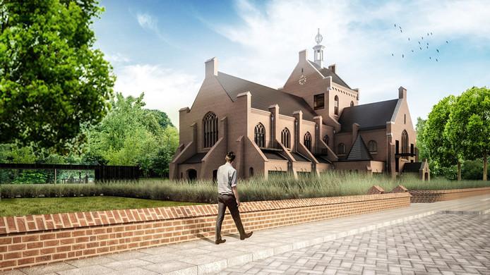 Een impressie van de Maria Boodschapkerk naar het plan van Hemon Erfgoed.