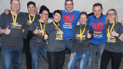 Pelikaanrunners liepen 100 kilometer voor 'Kom op tegen kanker'