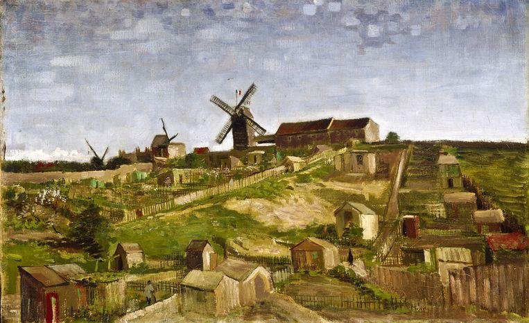 Vincent van Gogh, La butte Montmartre (The hill of Montmartre), april - mei 1886. Beeld Stichting Kröller-Müller Museum