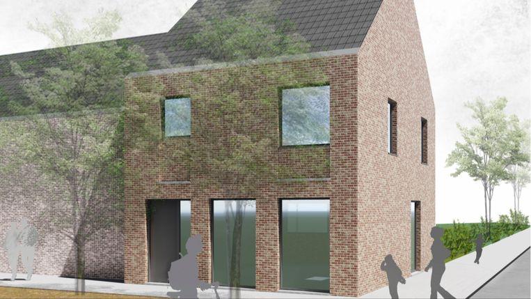 Een blik op een toekomstige woning in de Steenmolenbeekwegel in Woumen