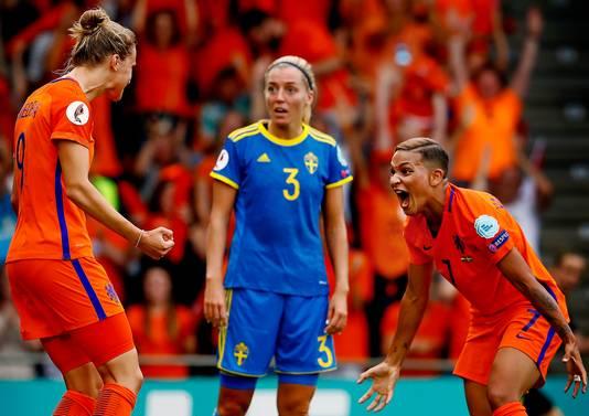 Nederland bewaart goede herinneringen aan de vorige Nederland - Zweden, in de kwartfinale van het EK in 2017 (2-0).