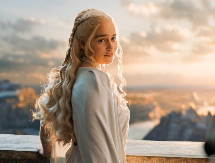 "Emilia Clarke alias Daenerys Targaryen dans la série ""Game of Thrones."""