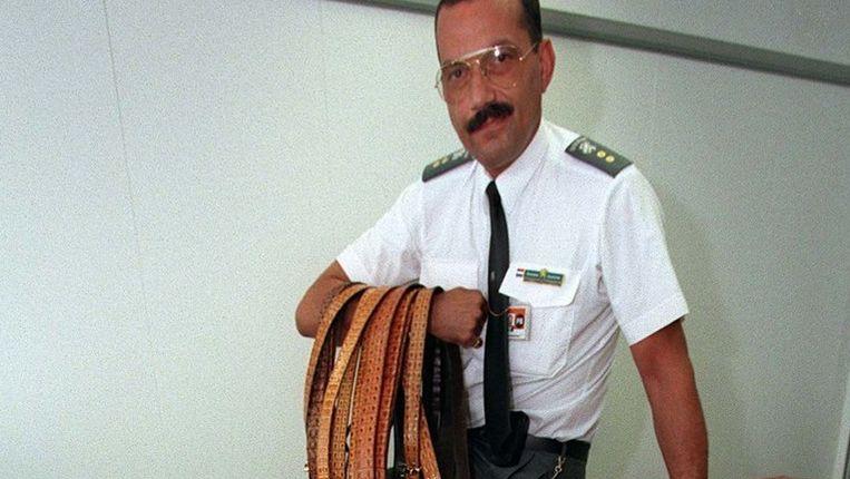 Onderschepte voorwerpen op luchthaven Schiphol. © anp Beeld