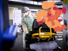 KAART   Coronavirus verliest terrein in Oost-Nederland, spectaculaire afname in Flevoland