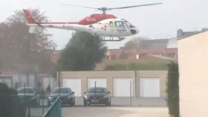VIDEO. MUG-heli maakt strakke landing in centrum van Maldegem
