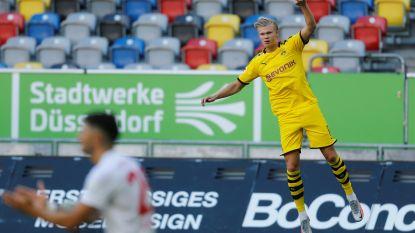Haaland schenkt Dortmund in slotseconden zege, T.Hazard en Witsel vroegtijdig naar de kant
