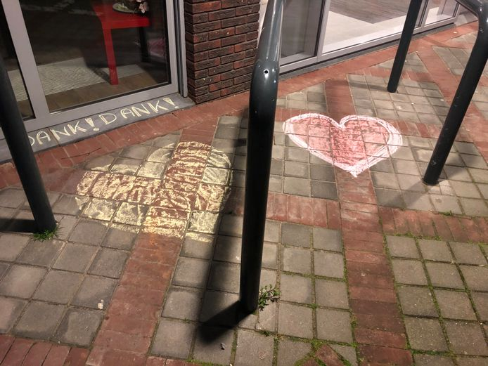 Bianca van Werkhoven zag deze hartjes bij een kantoor van Rivas-thuiszorg in Gorinchem.