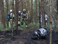 Bosbrandje blijkt scooter in vuur en vlam