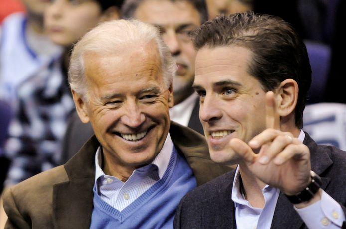 Joe Biden et son fils Hunter en 2010.