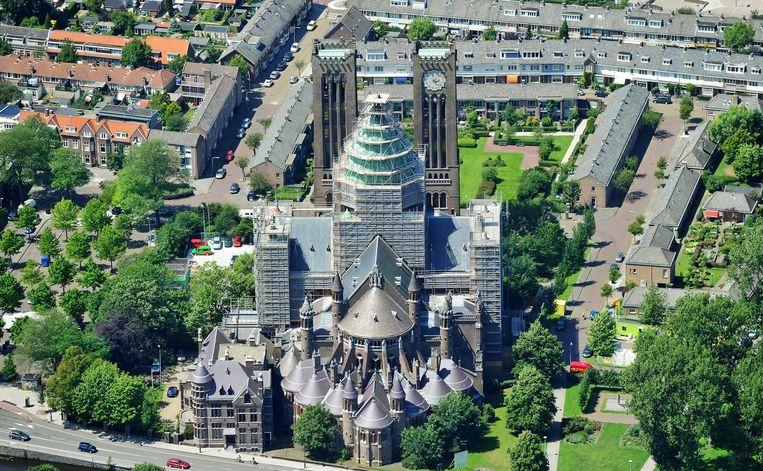 De basiliek Sint Bavo aan de Leidsevaart in Haarlem. Beeld
