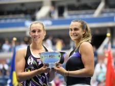 La WTA décerne ses lauriers, Mertens et Sabalenka nommées en double