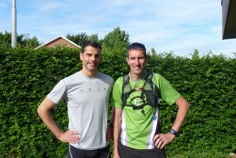 Wim Bogaert en Dominique Pattyn moeten de hele route samenlopen. Nu zondag staan ze aan de start.
