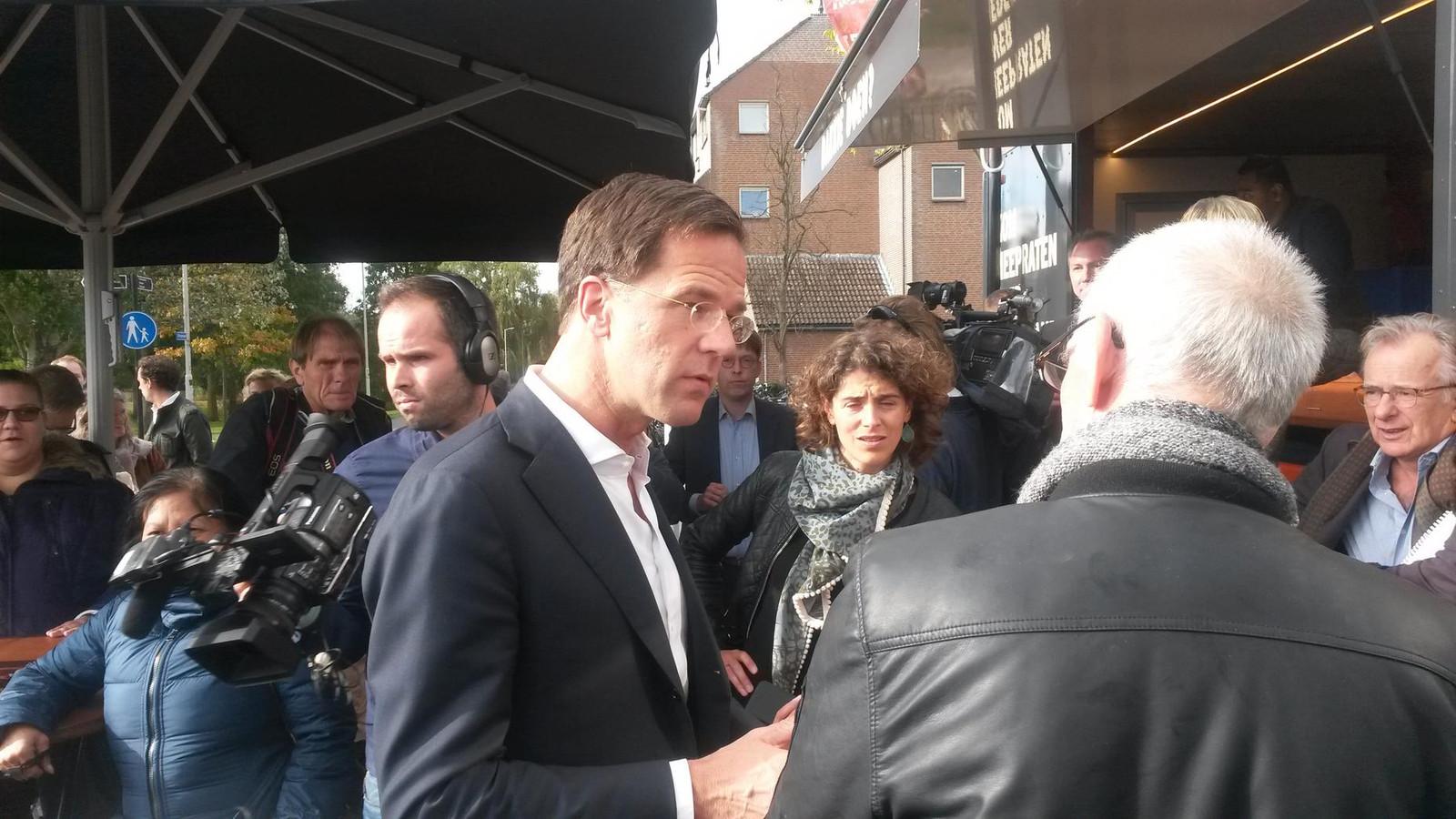 Mark Rutte in Spijkenisse.