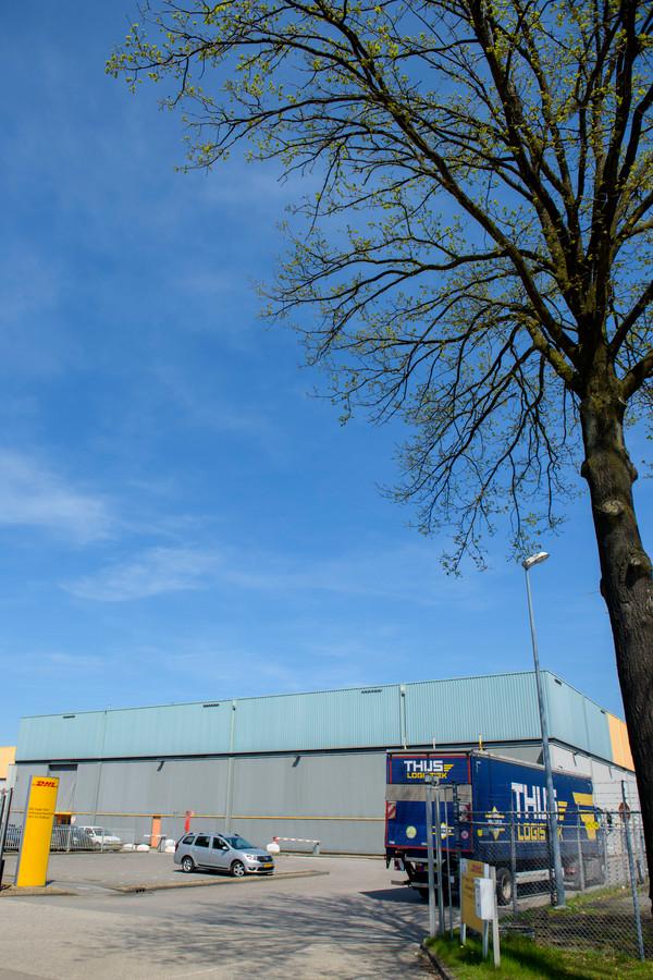 De voormalige locatie van DHL waar Picnic zijn distributiecentrum vestigt aan de Achtseweg Noord in Eindhoven,
