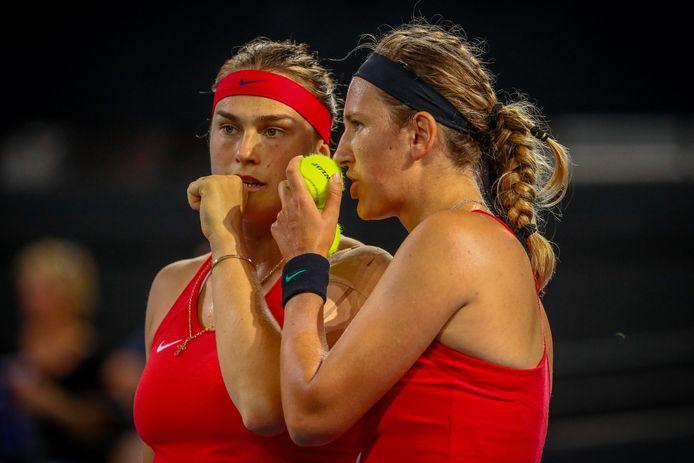 Aryna Sabalenka en Victoria Azarenka van Wit-Rusland.