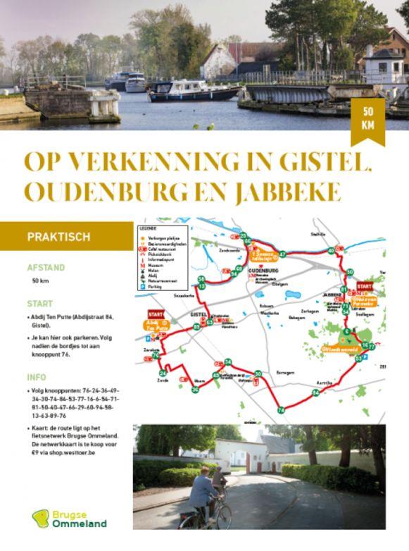 De nieuwe fietsroute van het Brugse Ommeland door Gistel, Oudenburg en Jabbeke.