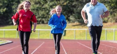 Zusjes uit Duiven gaan met vader  rennen voor KWF