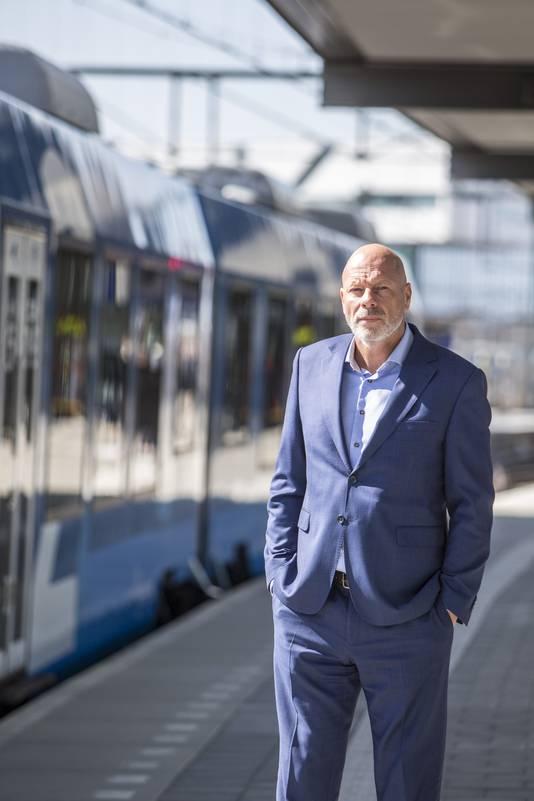 Directeur Emile Broersma van vervoersbedrijf Keolis