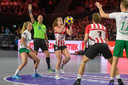 Actiebeeld van de laatste finale van de Korfbal League in Ziggo Dome op zaterdag 13 april.