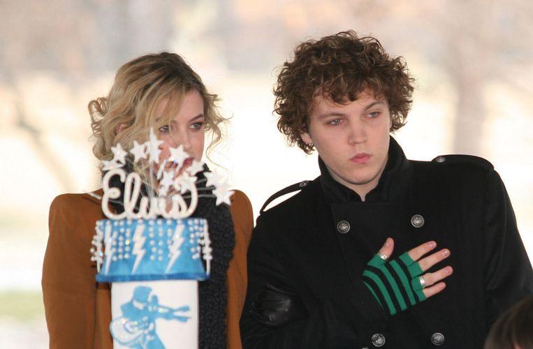 Benjamin en zijn zus Riley in 2010.