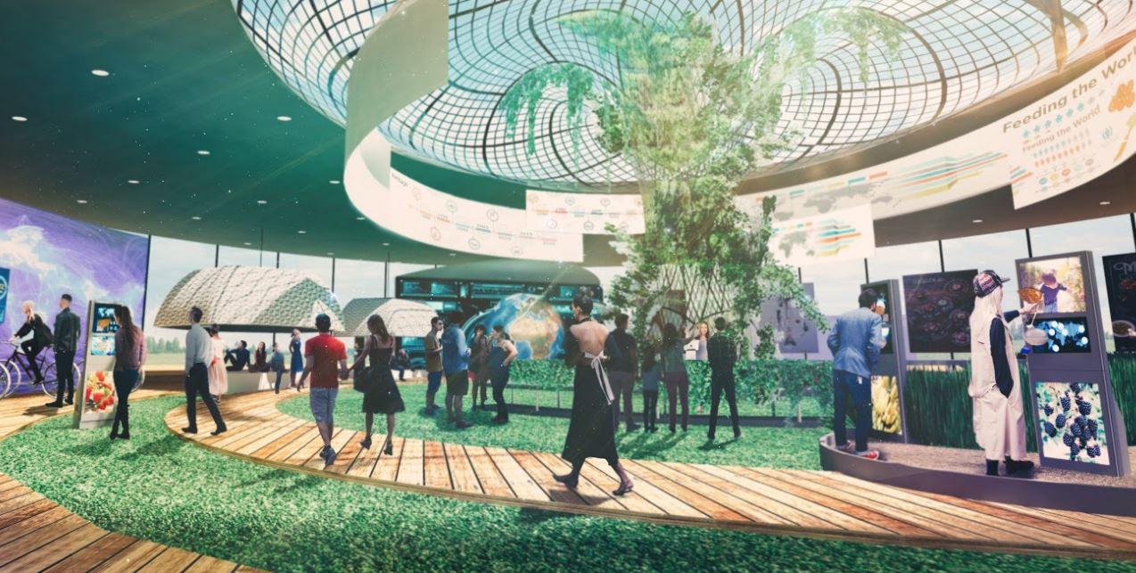 Impressie van de publieksattractie die onderdeel wordt van het World Food Center in Ede.