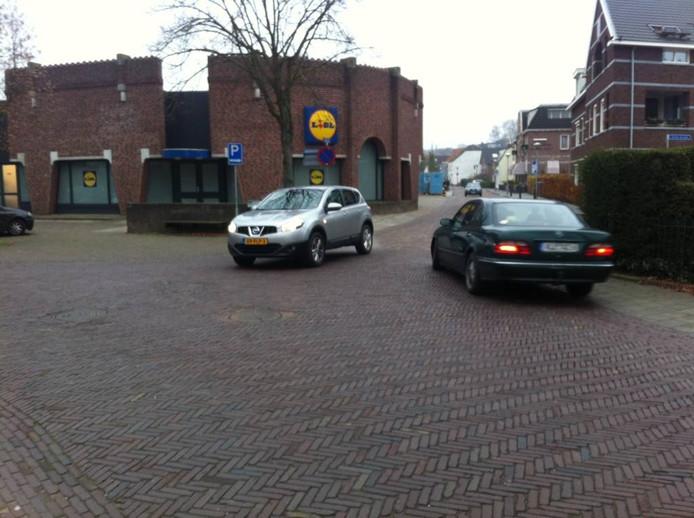 De Lidl op de hoek Emmerikseweg/Klinkerstraat in 's-Heerenberg.
