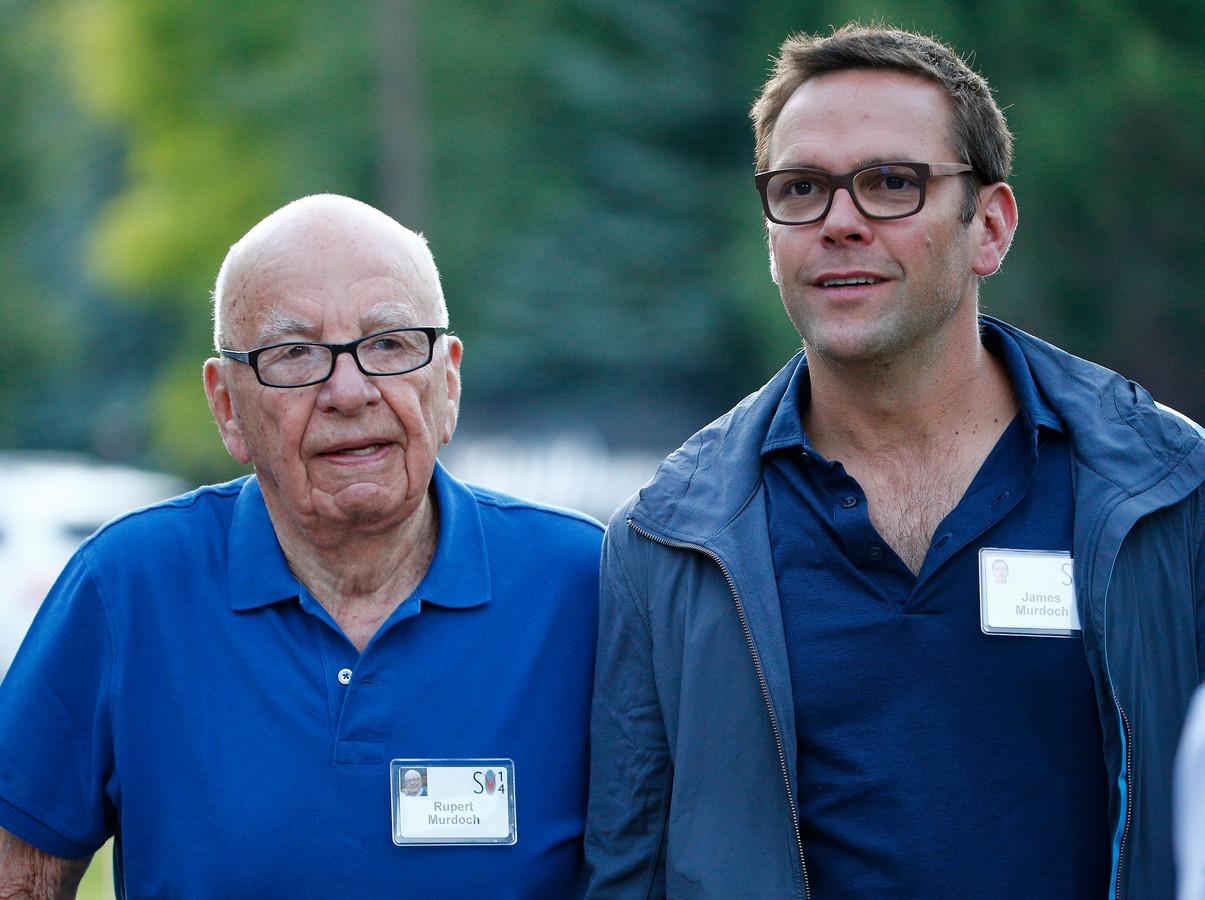 Rupert Murdoch en zijn zoon James.