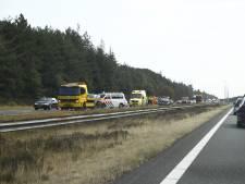 Lange file op A50 tussen Epe en Hattem na ongeval