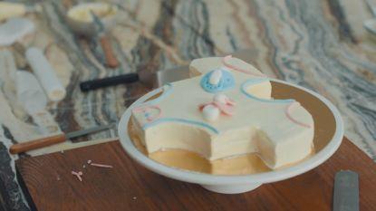 Bake My Day: 'babyshower-cheesecake' van Sofie Dumont onthult het geslacht van Maarten Vancoillies baby