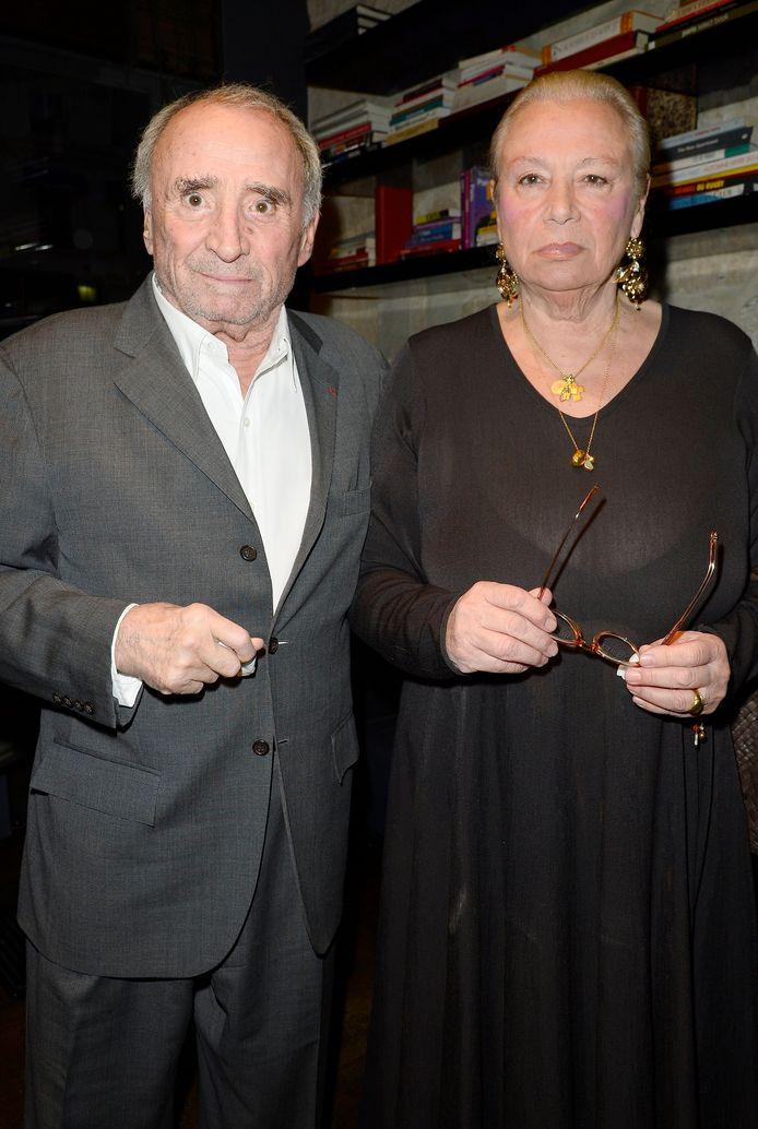 Claude Brasseur et sa femme.
