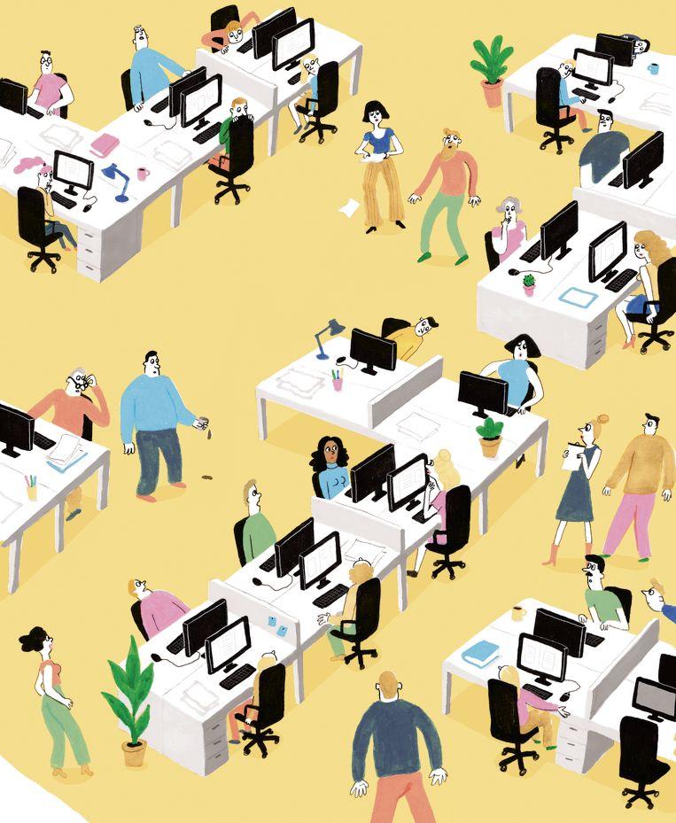 Diversiteit op de redactie – Illustratie Ineke Goes. Beeld