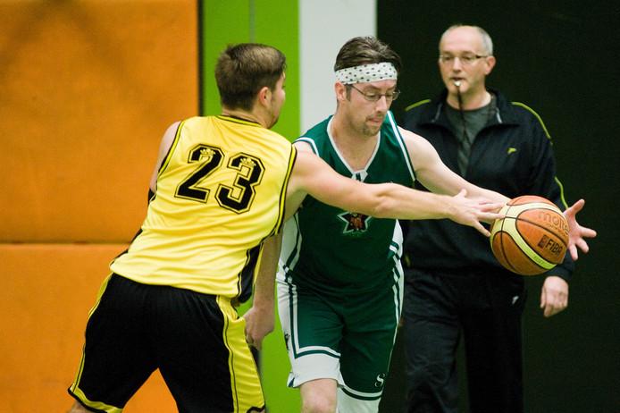 De basketballers van de Flip Stars wonnen met 43-80 van SV Twello. Archieffoto Raphael Drent